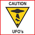 Caution Ufos by Pixel Chimp