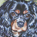 Cavalier King Charles Spaniel Black And Tan by Lee Ann Shepard