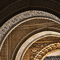 Close-up View Of Moorish Arches In The Alhambra Palace In Granad by David Smith