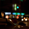 Detail Of A Taxi At Night, New York City, Usa by Frederick Bass