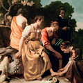 Diana And Her Companions by Jan Vermeer