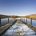 Dock In A Lake, Cumbria, England by John Short