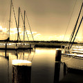 Dog River Marina Print by Gulf Island Photography and Images