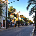 Duval Street In Key West by Susanne Van Hulst