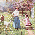 Easter Eggs In The Country by Victor Gabriel Gilbert