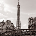 Eiffel Tower Black And White 3 by Andrew Fare