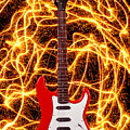 Electric Guitar With Sparks by Garry Gay