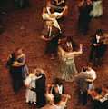 Elevated View Of Ballroom Dancers by Ira Block