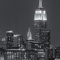 Empire State And Chrysler Buildings At Twilight II by Clarence Holmes