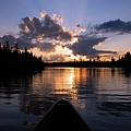Evening Paddle On Spoon Lake by Larry Ricker