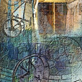 Face In The Window Embossed Montage by Arline Wagner