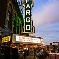 Fargo Theater And Downtown Along Broadway Drive by Paul Velgos