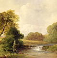 Fishing - Playing A Fish by William E Jones
