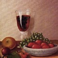 Fruit  And  Wine   A by Helen Thomas