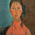 Girl With Pigtails by Amedeo Modigliani