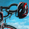 Great Day - Bicycle Oil Painting by Linda Apple