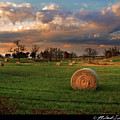 Haybales At Dusk by Melinda Swinford