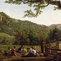 Haymakers Picnicking In A Field by Jean Louis De Marne