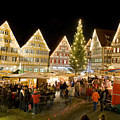 Herrenberg Christmas Market At Night by Greg Dale
