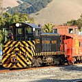 Historic Niles Trains In California . Old Southern Pacific Locomotive And Sante Fe Caboose . 7d10821 by Wingsdomain Art and Photography