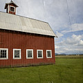 Historic Red Barn by Bonnie Bruno