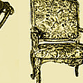Horizontal Poster Of Chairs In Sepia by Adendorff Design