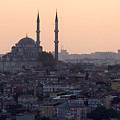 Istanbul Cityscape At Sunset by Terje Langeland