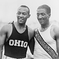 Jesse Owens 1913-1980 With Ralph by Everett