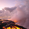 Lava Flows At Sunrise by Peter French - Printscapes