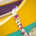 Lei Draped Over Outrigger by Dana Edmunds - Printscapes