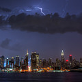 Lightning Over New York City I by Clarence Holmes