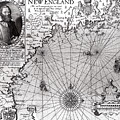 Map Of The Coast Of New England by Simon de Passe