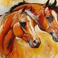 Mare And Stallion  By M Baldwin Sold by Marcia Baldwin