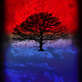 Modern Paintings Abstract Tree Wall Art by Robert R Splashy Art
