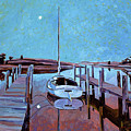 Moonlight On The Bay by David Lloyd Glover