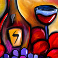 Napa Mix - Abstract Wine Art By Fidostudio by Tom Fedro - Fidostudio