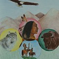 Native American Circle Of Life by Jessica Hallberg