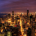 Night Cityscape Of Chicago by Jacob D. Moore
