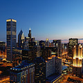 Night Falls On Chicago - D001087 by Daniel Dempster