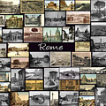 Old Rome Collage by Janos Kovac