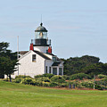 Point Pinos Light - Lighthouse On The Golf Course - Pacific Grove Monterey Central Ca by Christine Till