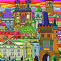 Prague Panorama Old Town by Yuriy  Shevchuk