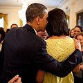 President Obama Whispers Into Michelles by Everett