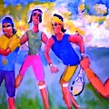 Rafa Tennis At The French Wimbleton And U.s. Open by Stanley Morganstein