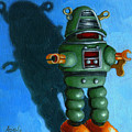 Robot Dream - Realism Still Life Painting by Linda Apple