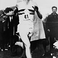 Roger Bannister Crossing The Finish by Everett