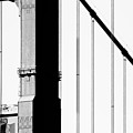 San Francisco Golden Gate Bridge . Black And White Photograph . 7d7954 by Wingsdomain Art and Photography