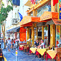 San Francisco North Beach Outdoor Dining by Wingsdomain Art and Photography