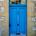 South Of France Rustic Blue Door  by Georgia Fowler
