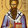 St Basil the Great Print by Julia Bridget Hayes